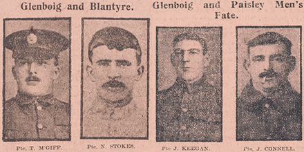 Evening Times Roll of Honour: men from Glenboig, Blantyre and Paisley